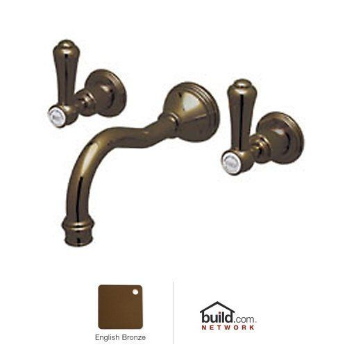 Rohl U.3793LSP-IB Inca Brass Perrin and Rowe Georgian Era Wall Mounted Bathroom Faucet --- but I prefer handles - not levers-on wall