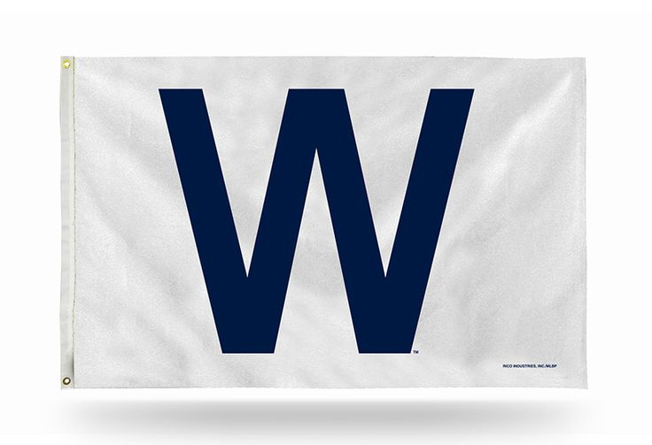 Chicago Cubs W Logo Banner Flag NEW! 3x5 Feet Free Shipping! Fly the W