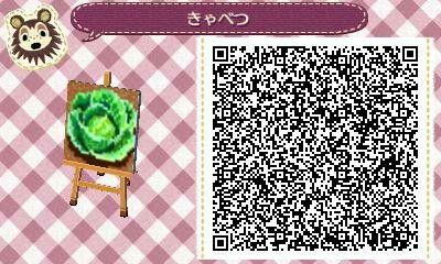 ACNL/ACHHD QR CODE-Lettuce/Cabbage Garden
