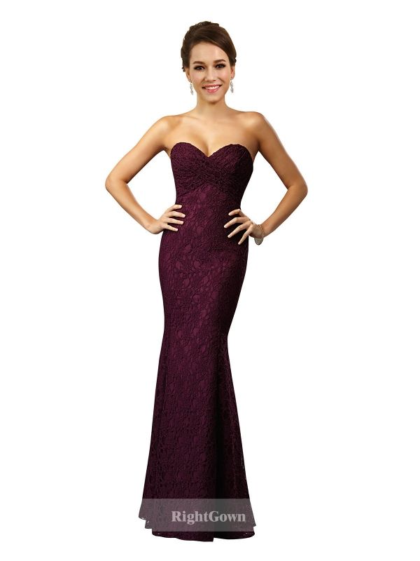 Cheap Right Gowns 2018 Hot Summer Collections Long Sweetheart Lace Grape Strapless Bridesmaid Dresses 172029, Right Bridesmaid Dresses, Cheap Bridesmaid Dresses and Buy Discount Bridesmaid Dresses2018