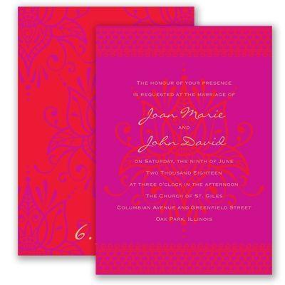 I designed this invite! LOVE it! Henna Spice - Begonia - Invitation