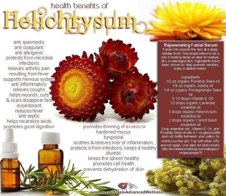 Health Benefits of Helichrysum Essential Oil. Rejuvenation Facial Serum.  www.theoildropper.com
