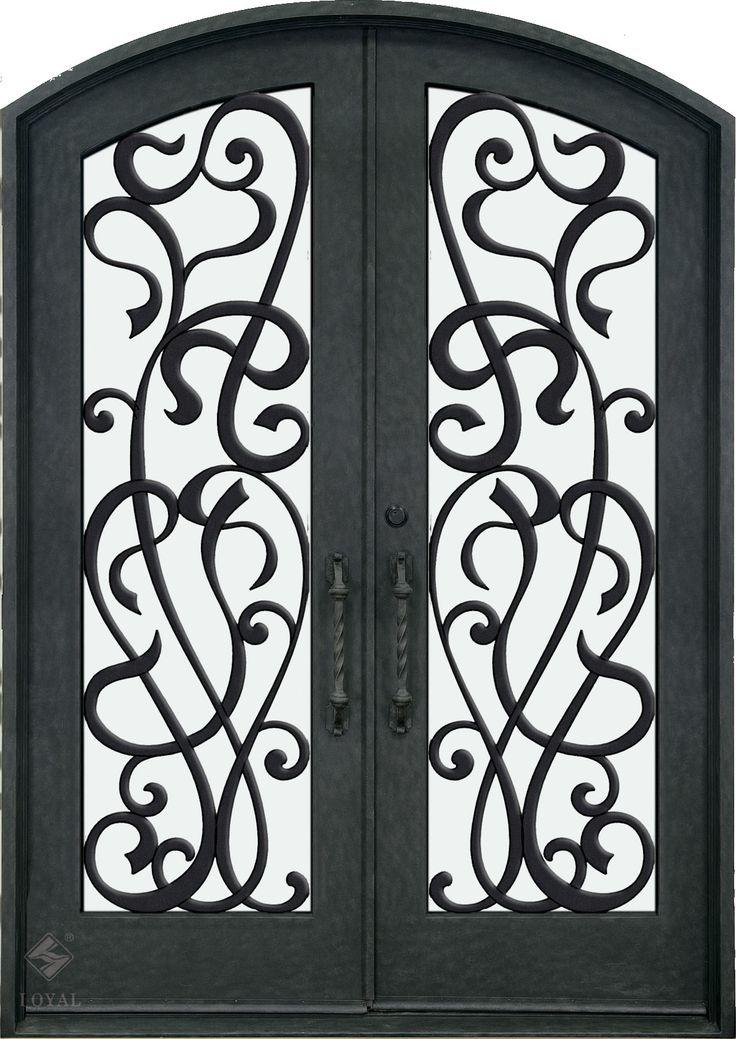 double white wrought iron gate | ... IRON DOORS :: Wrought Iron Doors :: Double Curved Wrought Iron Door