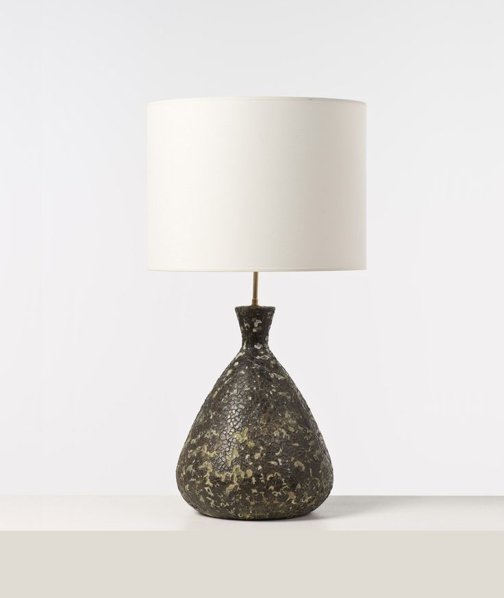 Marcello Fantoni; Glazed Ceramic Table Lamp, 1950.