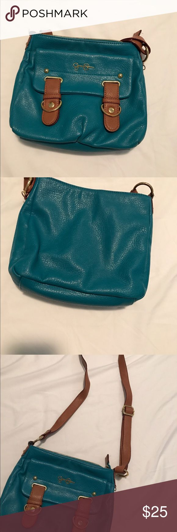 Jessica simpson cross body You will absolutely fall head over heels for this cross body. This blue matches everything so it's easy to use everyday. And also has a lot of room!! Jessica Simpson Bags Crossbody Bags