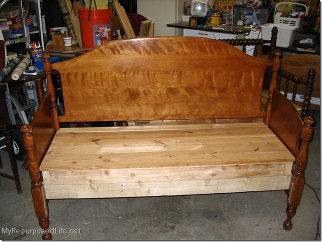 How to make headboards into  benches