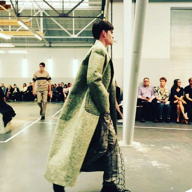 #recycled #uniforms from the Dutch Army #felt transformed into a #design #coat by @joosjewerre for the @artezfashiondesignarnhem graduation show