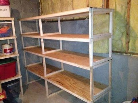 ▶ Quick, easy, cheap storage shelves - YouTube--make a tall storage unit for next to the fridge to store Kitchen Aid, bread maker, etc.