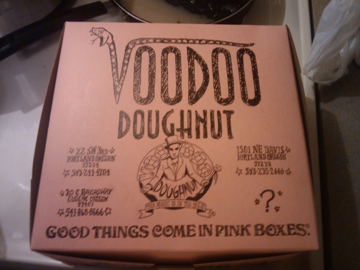 Voodoo Donuts- Portland, Oregon. B-town!  These are so famous in Portland, but they are kind of yukkie sweet.