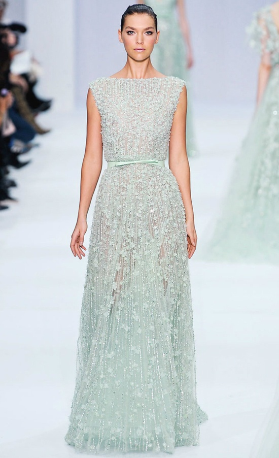 Elie saab s s12 so in love with the light blue wedding for Price of elie saab wedding dress