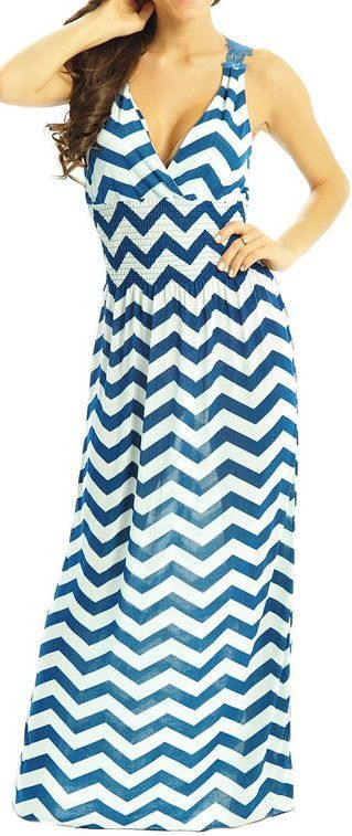 Chevron Tank Maxi Dress ♥ with a tank underneath of course