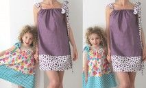 Patron PDF robe tunique maman et moi et la vidéo explicative pour coudre ces modèles