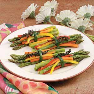 Spring Vegetable Bundles - so pretty for a dinner party! via Taste of Home