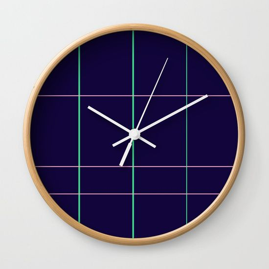 Grid Dimension Wall Clock by Bravely Optimistic | Society6