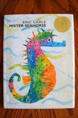 "I HEART CRAFTY THINGS: Story Time ""Mister Seahorse"" with seahorse craft and shoe tying practice"