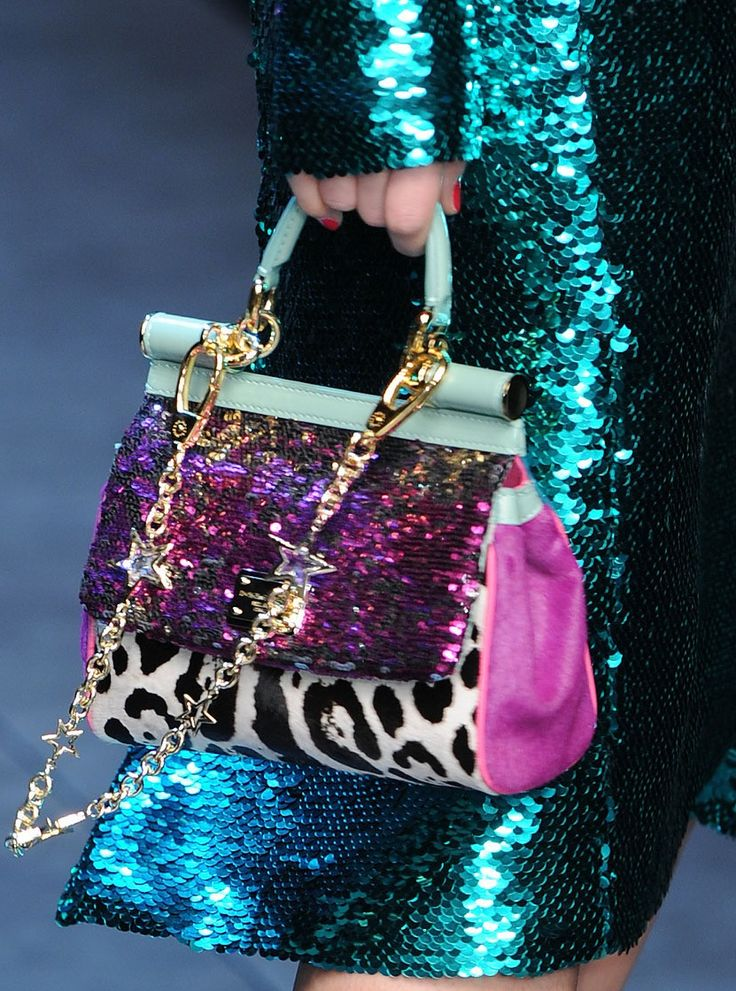 DOLCE N GABANA  TEAL SEQUINED COAT AND THAT BAG?!!!!!!!