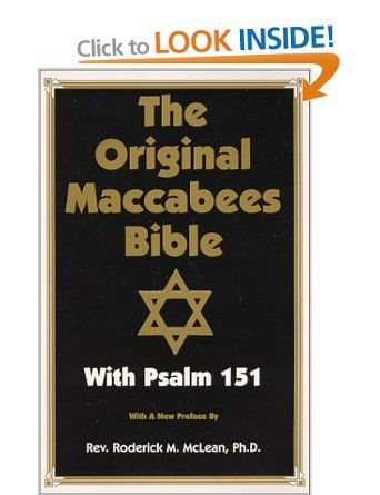 Original Maccabees Bible-OE: With Psalm 151: Amazon.co.uk: Roderick Michael McLean: Books