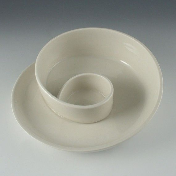Ceramic white clay I like this white porcelain serving dish