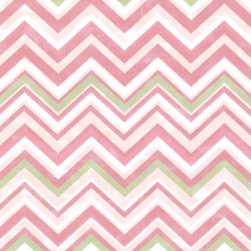 Brewster HAS47293 Susie Pink Chevron Wallpaper