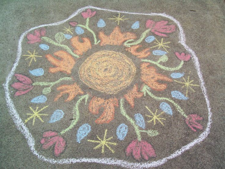I did this Rangoli and took a picture