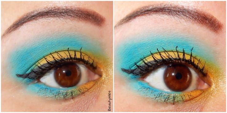 Bahamas Independence Day Eye Makeup Look and Tutorial featuring MAC Cosmetics fl…