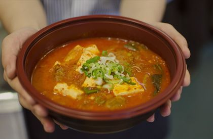 Korean Tofu Soup - Wellbeing Kitchen - near Tott Ct Road