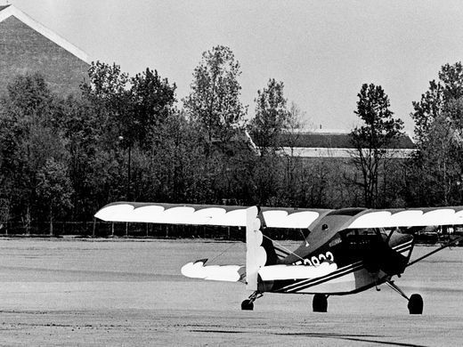 Professional pilot Don Clark of Greenville, Ky., thought the deserted Opryland theme park parking lot would make a swell place to land his plane while he went inside to buy Opry tickets April 12, 1977. Clark did get a police citation for his efforts, but at least nobody towed his plane away.