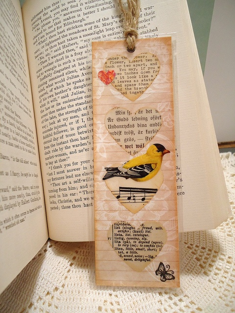 A Bird in My Heart Bookmark by misseskwittys, via Flickr