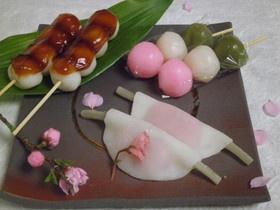 春爛漫☆3種の和菓子☆ by tomofriend [クックパッド] 簡単おいしいみんなのレシピが135万品