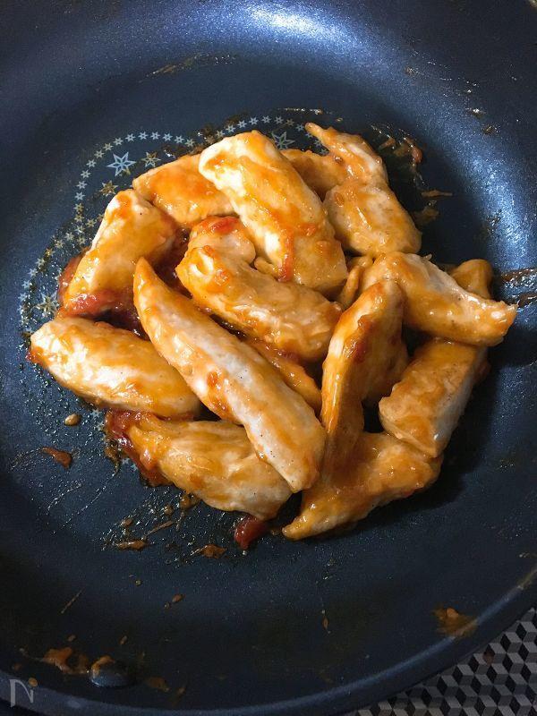 お弁当箱おかず♪鶏ささみのオーロラソース炒め by 津久井 美知子 (chiko)   レシピサイト「Nadia   ナディア」プロの料理を無料で検索