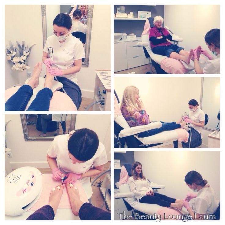 Pedicure behandeling! Oma, mamma en zusje op de behandelstoel! Heerlijke zachte voeten en mooi gelakte nagels