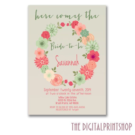 Hey, I found this really awesome Etsy listing at https://www.etsy.com/listing/189929233/floral-spring-shower-invitation-bridal