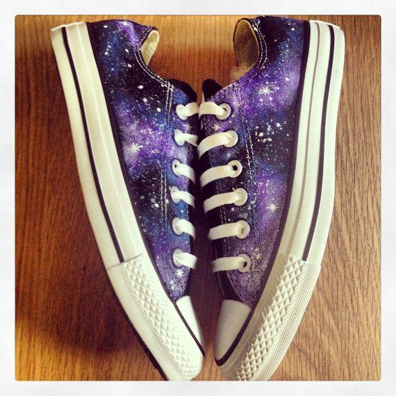 All Star Ox Galaxy Converse by Littleblacksky on Etsy, £65.99