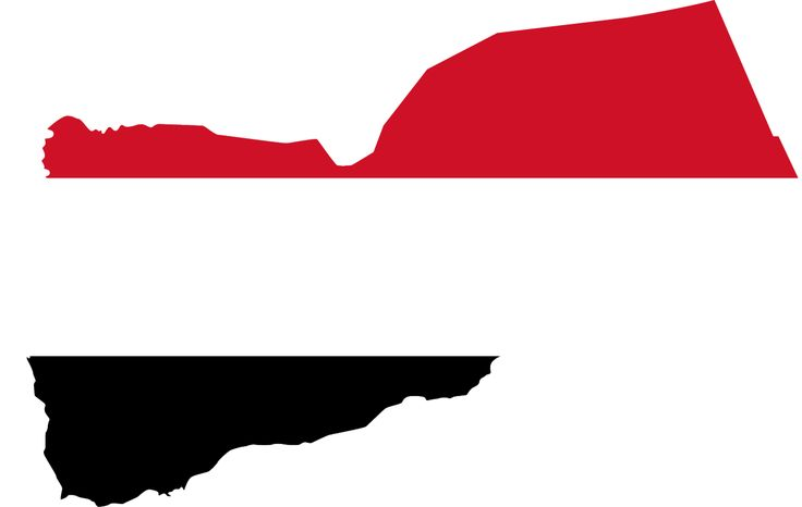 Yemen Flag Map - Mapsof.net