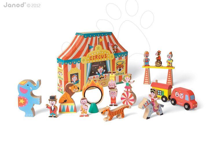 Hledáte pro děťátko zajímavou dřevěnou hračku? Janod vám nabízí dřevěnou stavebnici s cirkusovým motivem se spoustou doplňků, která poskytne dětem spoustu zábavy.