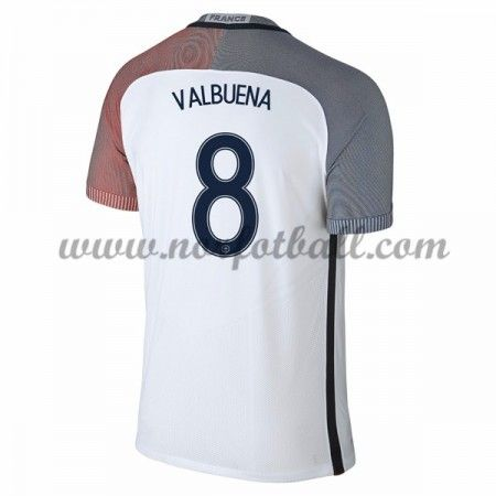 Frankrike 2016 Landslagsdrakt Mathieu Valbuena 8 Kortermet Borte Fotballdrakter