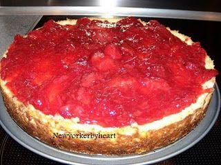 Manhattan-style strawberry cheesecake (jordbær-ostekage)…………