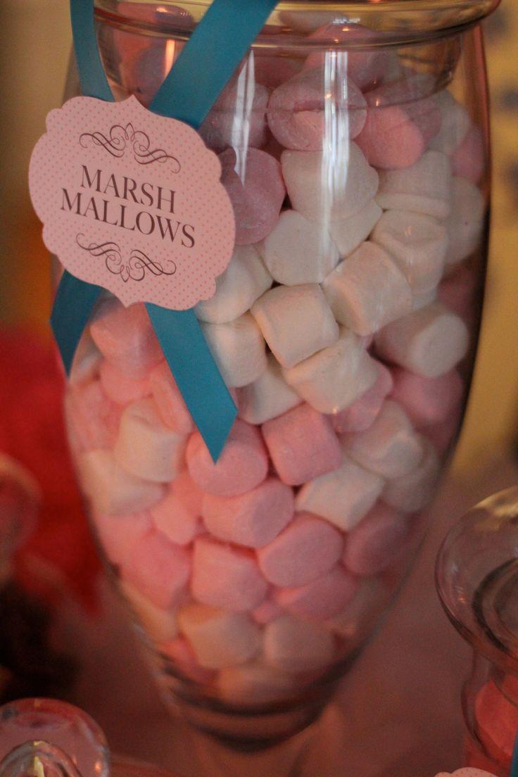 Pink & Blue Candy Buffet
