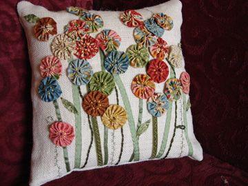 Yo Yo Flower Pillow!!