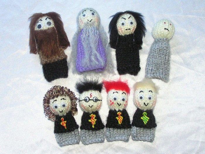 Harry Potter, Dumbledore, Snape Finger Puppets von Kazzalblue's Baby and Childrens Boutique auf DaWanda.com