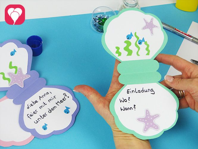 So kannst Du eine DIY Muschel Einladung basteln – balloonasBlog