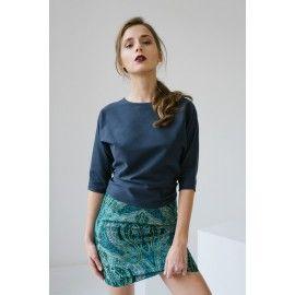 Emerald skirt #oceanblue #minimalism