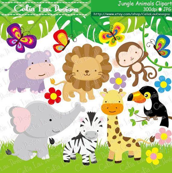 free baby jungle animals clipart - photo #48