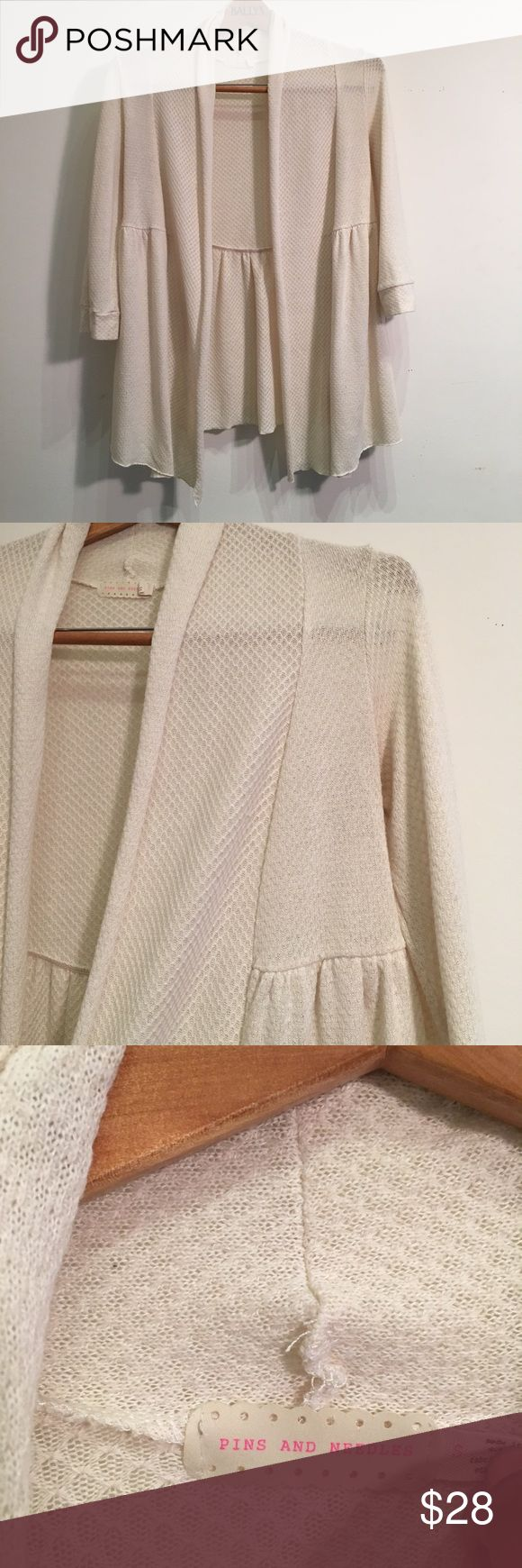 Pins and Needles Cardigan Urban Outfitters Pin n Needles cream cardigan in a size small EUC Pins and Needles Sweaters Cardigans