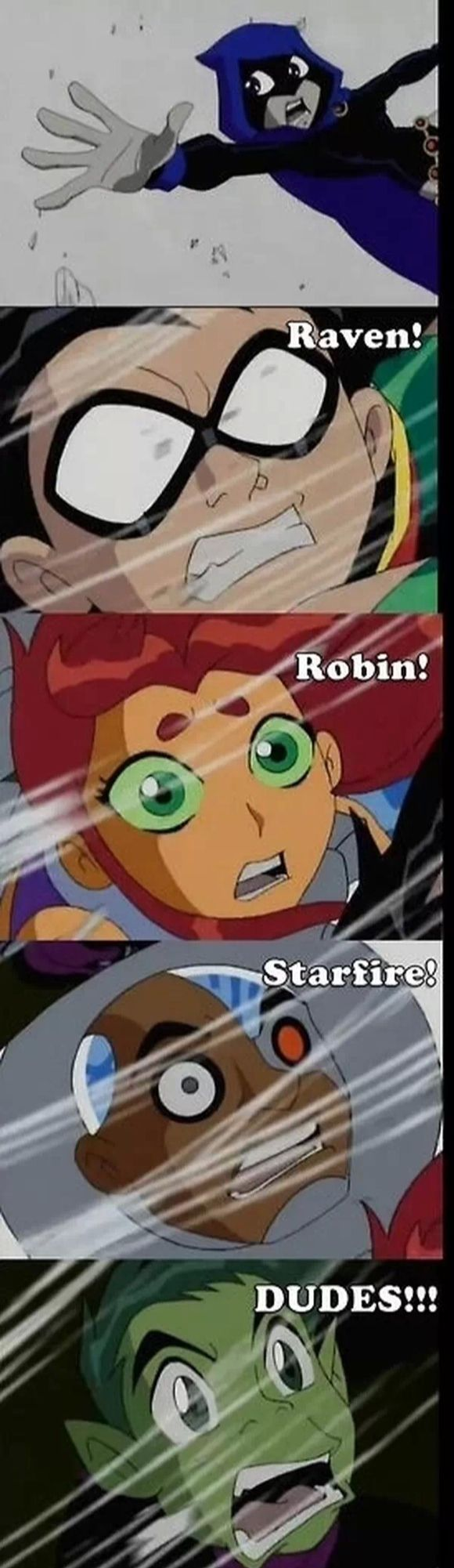 There we go Beast Boy. In the 4 part episode season finally, The End, Robin WAS the person there the whole time for Raven.