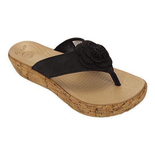Women's Crocs A-Leigh Floral Flip-Flop /Gold