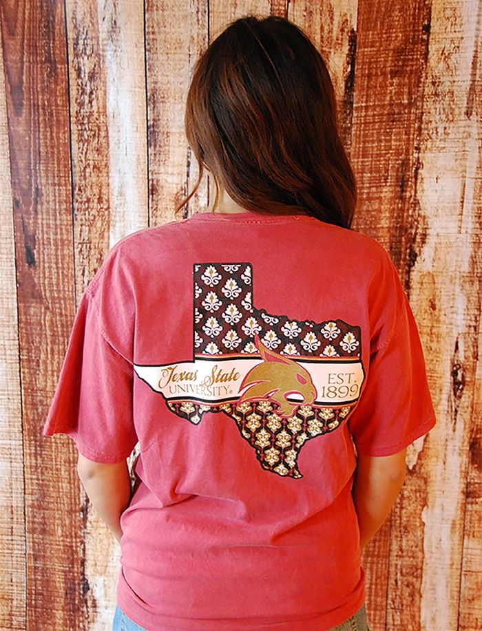 76 best texas state university images on pinterest texas for Custom t shirts san marcos tx