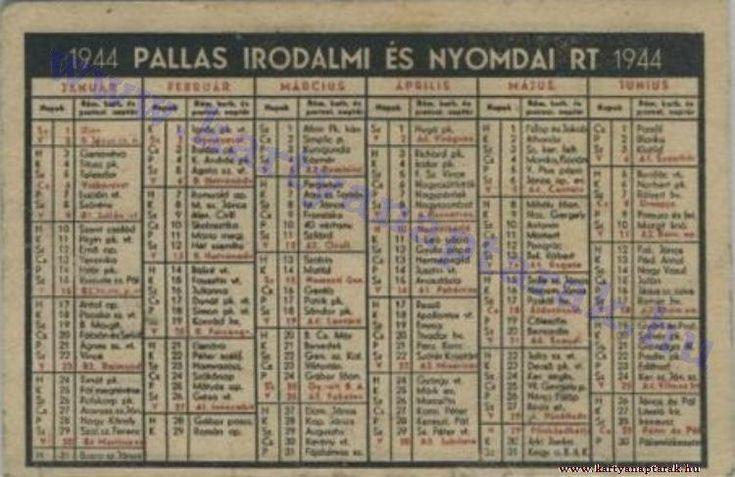 1944 - 1944_0013 - Régi magyar kártyanaptárak