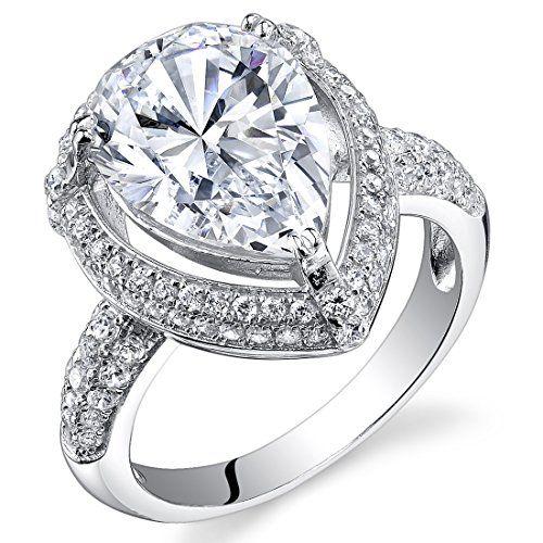 d0cd6ef87dd Revoni - Bague de fiançailles Femme - Argent 925 1000 - Diamant de culture