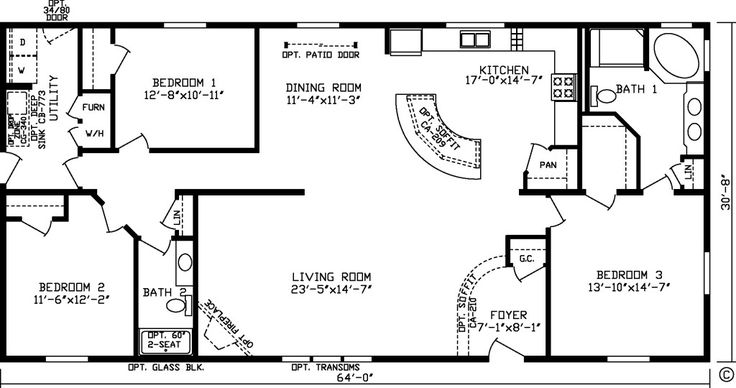 Image Result For 2000 Sq Ft Ranch House Open Concept Plans